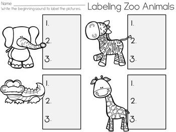 Labeling Zoo Animals