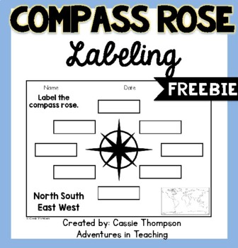 Labeling a Compass Rose- FREEBIE