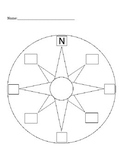 Labeling a Compass Rose- quiz or worksheet