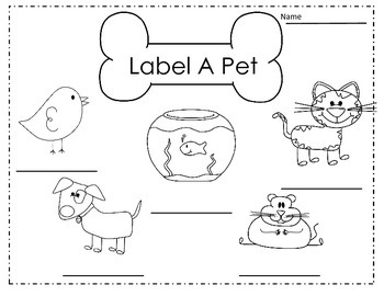 labeling and sentence writing about pets in kindergarten by brittany turner. Black Bedroom Furniture Sets. Home Design Ideas