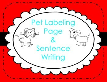 Labeling and Sentence Writing about Pets in Kindergarten