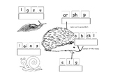 Labeling hedgehog and his food SEN