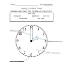 Labeling the Analog Clock