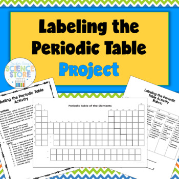 Labeling The Periodic Table Project By Teacher Ericas Science Store