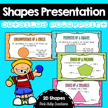 Labelling 2D Shapes Presentation Includes Square, Triangle, Circle and Polygon