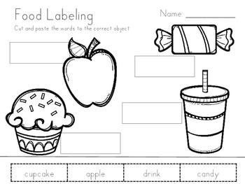 Labelling Worksheets (3 levels)