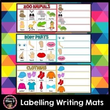 Labelling Writing Mats