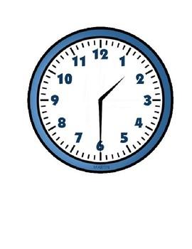 Labelling an Analog Clock Folder Activity