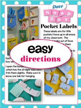 Classroom Labels for Little Wall Boxes