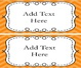 Classroom Labels Editable
