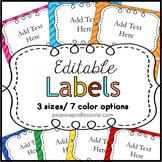 Classroom Labels Editable Back to School Classroom Decor