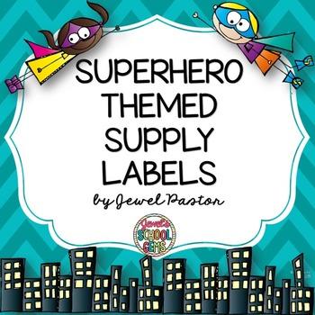 Superhero Theme Supply Labels ❤ Superhero Supply Labels