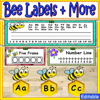 Bee Theme Labels and More Classroom Decor