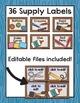Woodland Classroom Labels - Organization