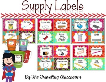 Labels {Super Hero Themed}