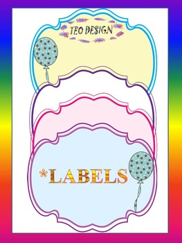Labels Balloons - Clipart -Back to School Activity