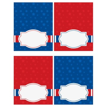 Labels & Banner Set - Patriotic {FREE}
