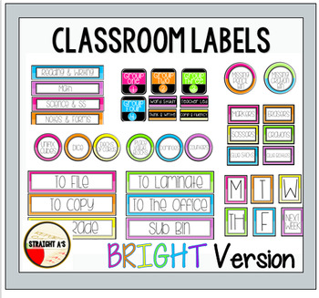 Labels { Bright Version }