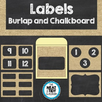 Labels {Burlap and Chalkboard}
