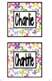 Labels - Butterfly Theme (Editable)