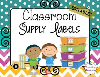 Labels {Chevron Polka Dots Theme Classroom Decor }