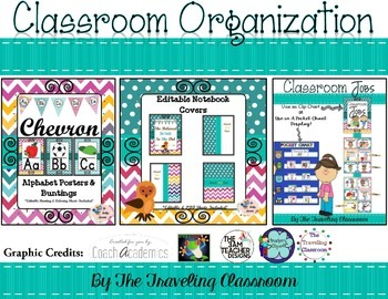 Labels {Chevron Polka Dots Theme Classroom Decor }