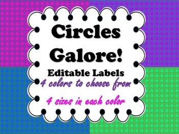 Labels:  Circles Galore