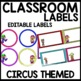 Labels (Circus Themed)