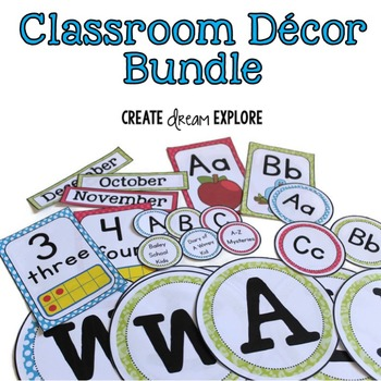 Classroom Decor Labels Bundle