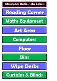 Labels - Classroom Duties and Jobs (suitable for State and
