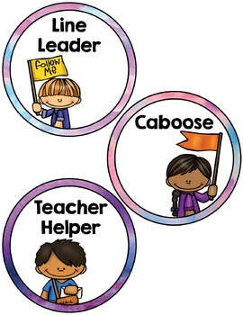 Labels:  Classroom Jobs- Rainbow Watercolors Theme Classroom Decor