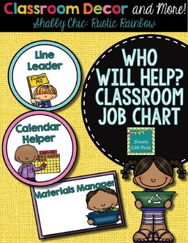 Labels:  Classroom Jobs- Shabby Chic Rustic Rainbow Burlap decor