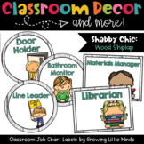 Labels:  Classroom Jobs- Shabby Chic Rustic Wood Shiplap decor
