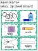 Classroom Labels, Organization, Chevron and Seasonal Borders, Label Images