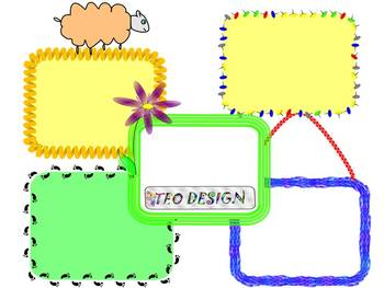 Labels - Frames - Clipart - Personal or Commercial Use
