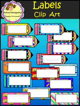 Labels Clip Art (School Designhcf)