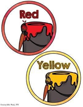 Labels: Color Posters- Rainbow Watercolor classroom decor