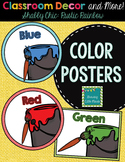 """Labels: Color Posters- Shabby Chic """"Rustic Rainbow"""" Burlap"""