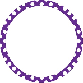 Labels - Colored Dotted Circles