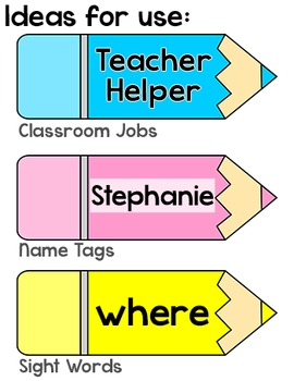 Labels - Colored Pencils