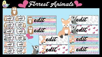 Labels - Cute Forrest Animals