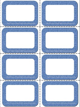 Editable Labels Pack: Denim