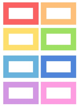 Labels (Editable) - 8 Colours