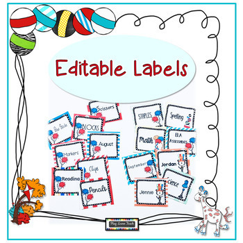 Labels Editable Silly Cat