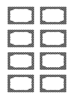 Labels: Editable Black and White