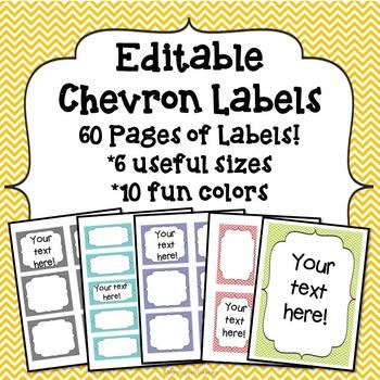 Labels: Editable Chevron