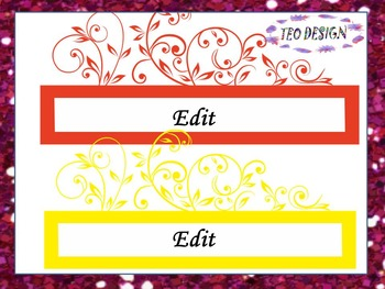 Labels - Editable - Clip Art - PowerPoint