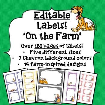 Labels: Editable Farm Theme