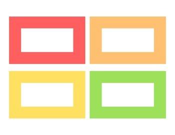 Labels (Editable) - Large, 8 Colours