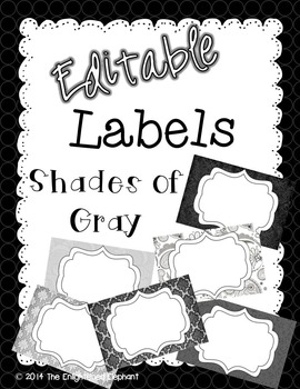 Labels Editable Shades of Gray